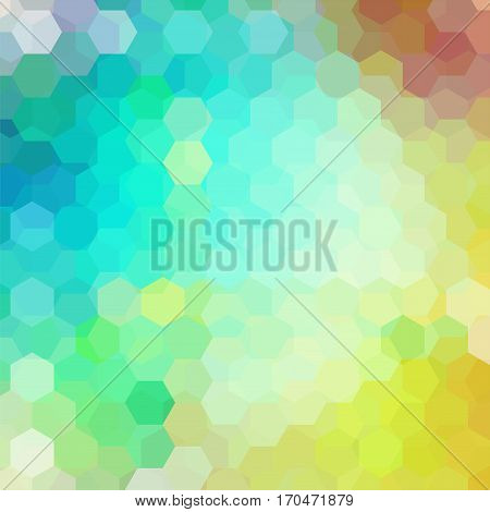 Abstract Hexagons Vector Background. Geometric Vector Illustration. Creative Design Template. Yellow