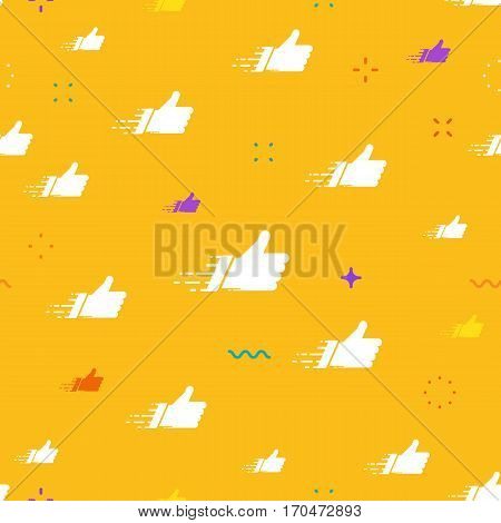 Networks concept for social media banners. Colorful vector composition with white like cloud