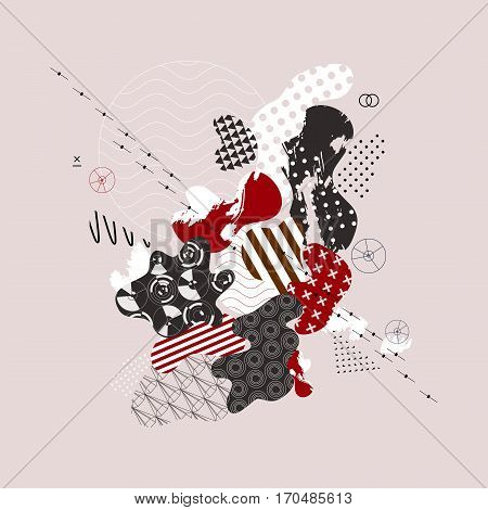 Abstract background. Current composition of the fluid forms and geometric shapes. Trendy design for business, technology and advertising. Modern vector illustration