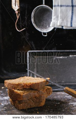 Sliсed Homemade Rye Bread