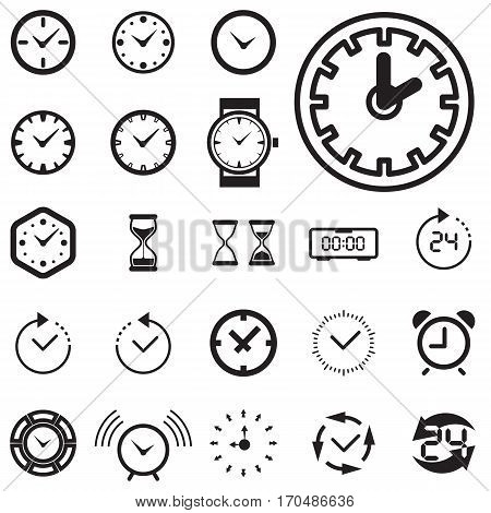 Time Or Clock Icon Isolated