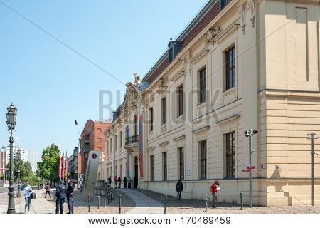 BERLIN, GERMANY- May 18, 2014: Typical Street view May 18, 2014 in Berlin, Germany. Berlin is the capital of Germany. With a population of approximately 3.5 million people.BERLIN, GERMANY