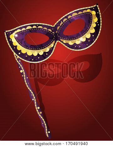 Carnival mask for masquerade costume, colored vector illustration