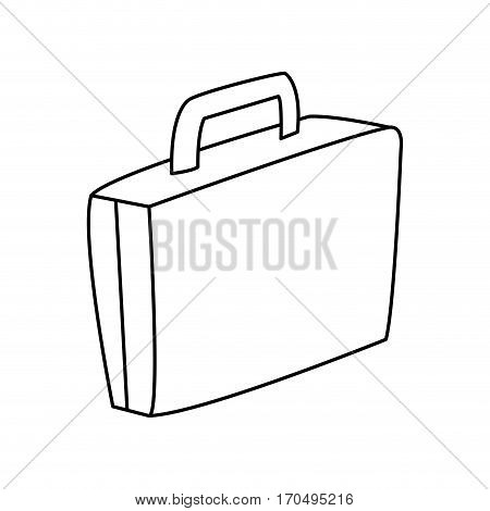 briefcase icon over white background. vector illustration