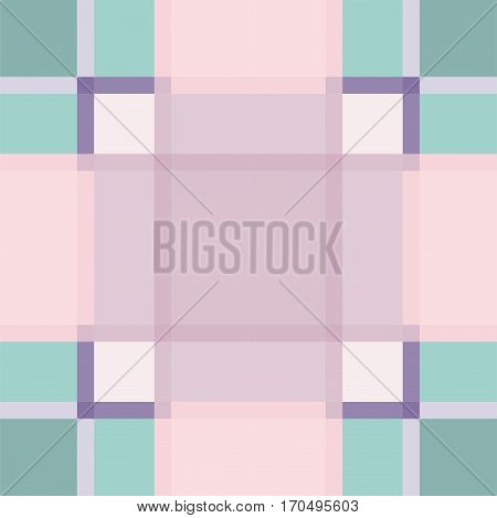 Geometric squared lilac seamless vector pattern. Retro checkered shape background.