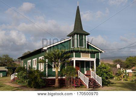 Ka Hale La'a O Ierusalema Hou Church - The Sacred House of New Jerusalem - in Kaunakakai Moloka'i Island Hawai'i
