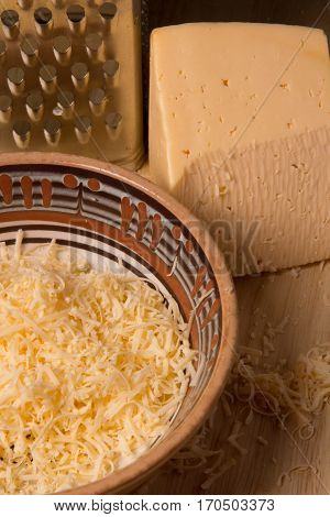 Grated Cheese For Cooking Dishes