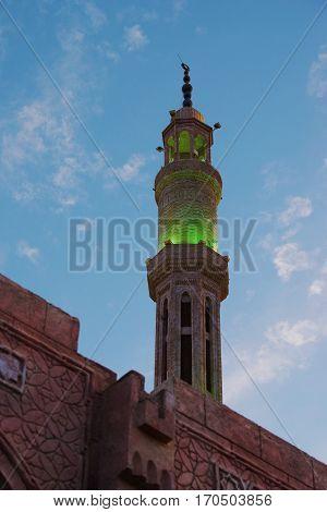 Al-Mustafa Mosque sharm el sheikh. night landscape