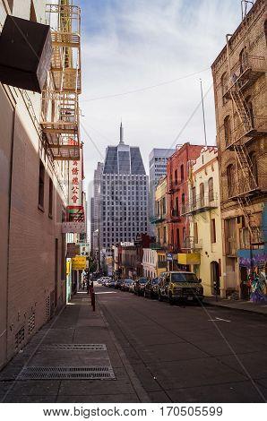 SAN FRANCISCO, Ca, OCTOBER, 08, 2015: a view of Chinatown, San Francisco,USA.