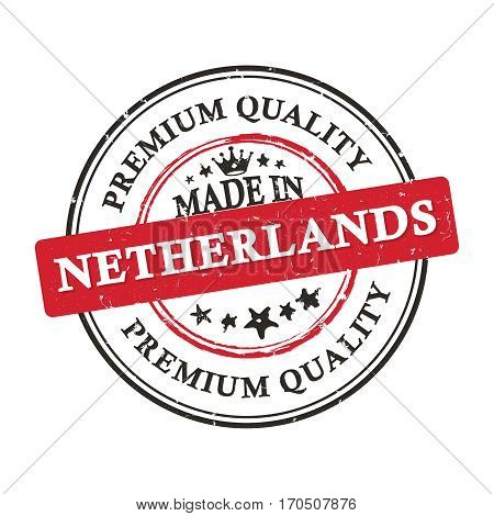 Made in Netherlands, Premium Quality - business grunge stamp ribbon Print colors used.