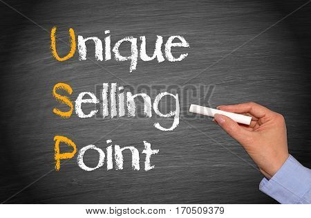 USP - Unique Selling Point - Marketing Concept
