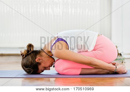 Yoga Balasana Or Child Position