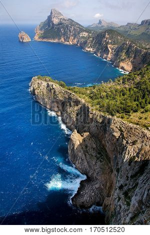 Formentor Point, on the north east corner of the island of Mallorca, Spain