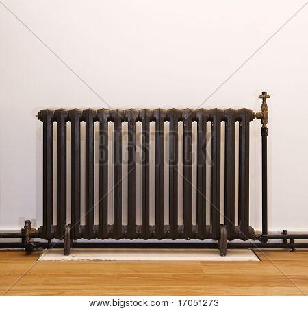 retro vintage hot wate heater in dark brown