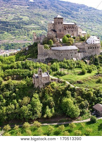 Chateau Valere in Sion, in the Vallee of Switzerland.