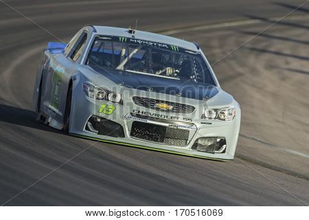 January 31, 2017 - Avondale, Arizona, USA:  Ty Dillon takes his Germain Racing Chevrolet through the turns during a practice at the Phoenix Open Test at Phoenix International Raceway in Avondale, Az