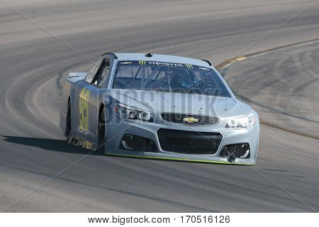 January 31, 2017 - Avondale, Arizona, USA:  Michael McDowell takes his Leavine Family Racing Chevrolet through the turns during a practice at the Phoenix Test at Phoenix Raceway in Avondale, Arizona.