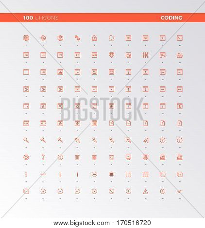 Ui Ux Code Production Icons