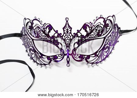 Carnival Halloween Mask Isolated On White Background.