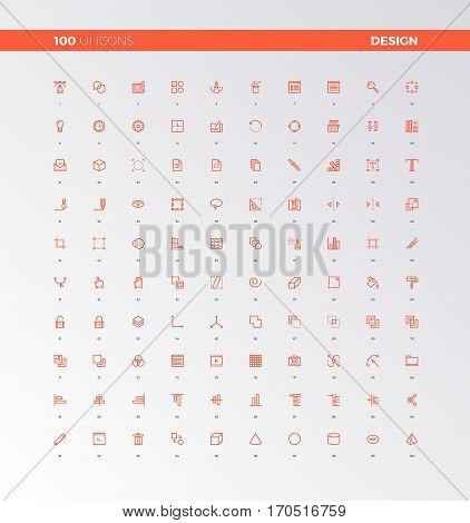 Ui Ux Design Elements Icons