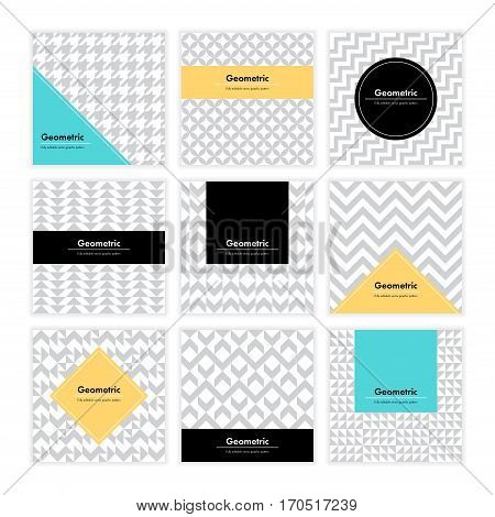 Geometric Texture Set 002