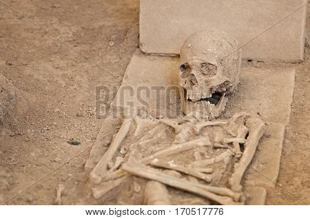 Some 2000 years old skeleton revealed at archeological site