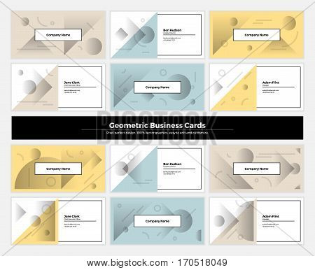 Abstract Geometry Business Cards 001