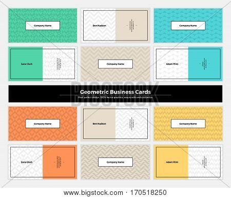 Geometric Business Cards 002