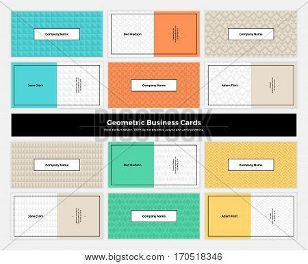 Geometric Business Cards 003