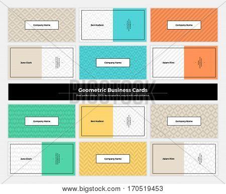 Geometric Business Cards 004