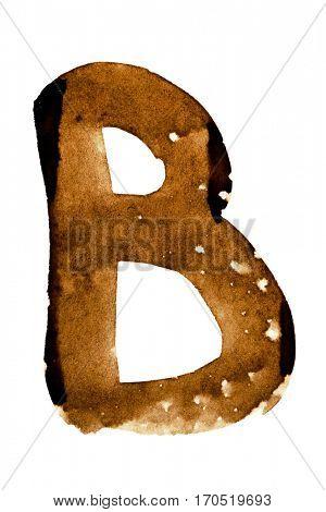 Letter B -- alphabet in coffee