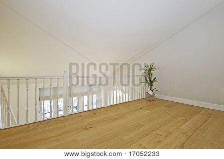 split level living room set in the loft