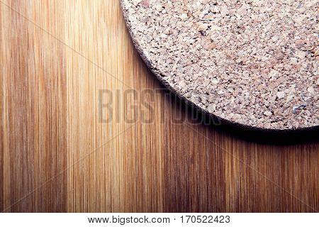 background bamboo board cork circular disc