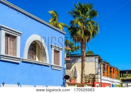 Colourful houses in San Jose del Cabo, Mexico.