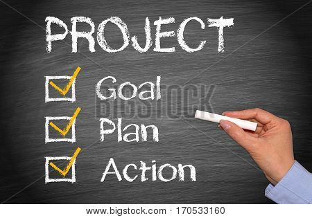 Business Project - Goal, Plan, Action checklist