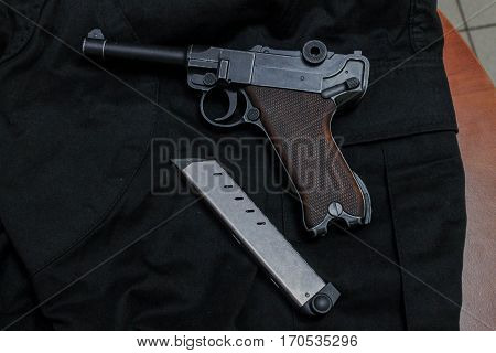 Nagan Pistol With Magazine For Ammunition.