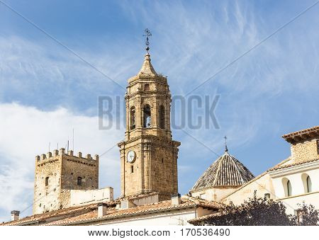 parish church in Iglesuela del Cid town, province of Teruel, Aragon, Spain