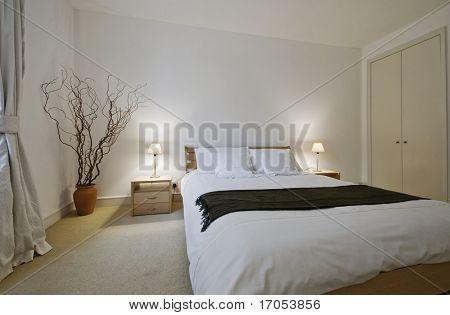 Luxus Schlafzimmer mit modernen Möbeln und Einbauschrank