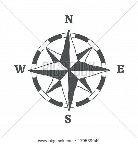 Compass sign icon. Windrose navigation symbol. Graphic design element.