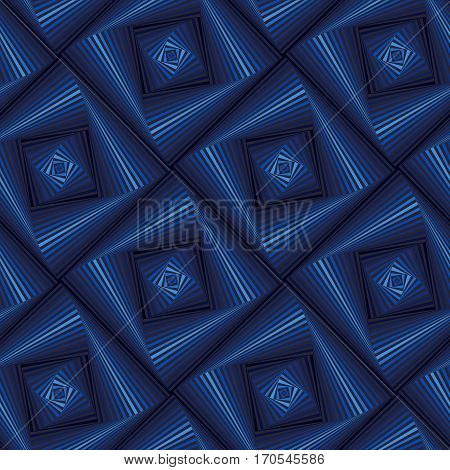 Seamless Pattern With Blue Quadratic Forms