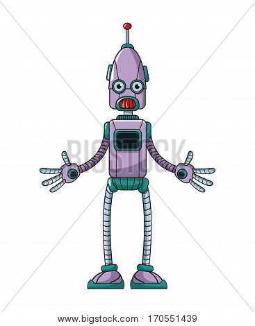 funny robot technology toy vector illustration eps 10