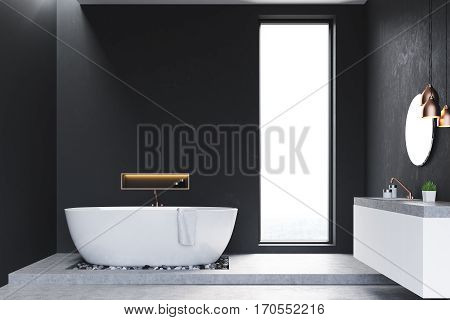 Bathroom With Windows And Sink