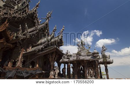 Beautiful Buddhist temple stands out for its wooden architecture