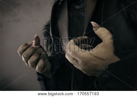 Monster Hands With Large Scary Nails