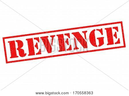 REVENGE red Rubber Stamp over a white background.