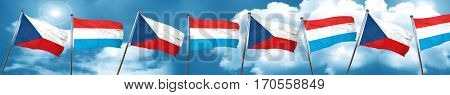 czechoslovakia flag with Luxembourg flag, 3D rendering
