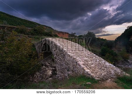 An Old Ottoman Bridge in Tirana, Albania