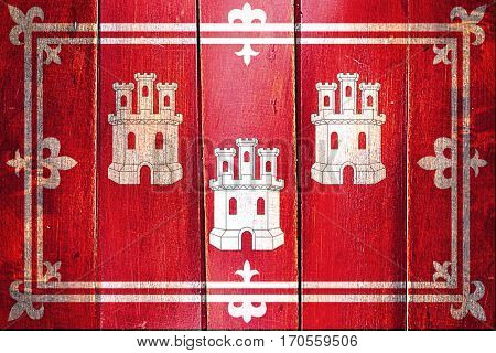 Vintage Aberdeen flag on grunge wooden panel