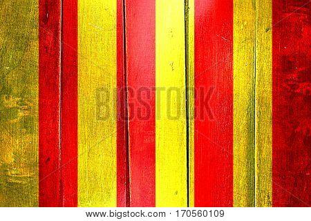 Vintage debris racing  flag on grunge wooden panel