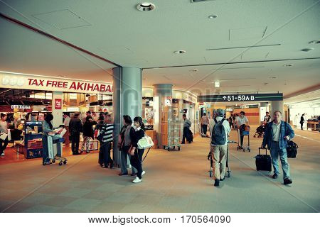 TOKYO, JAPAN - MAY 15: Tokyo Narita airport on May 15, 2013 in Tokyo. Tokyo is the capital of Japan and the most populous metropolitan area in the world